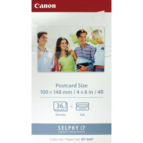 Canon KP-36IP Ink/Paper for Selphy CP Printers - 36x 4